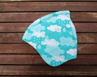 Clouds Jersey reversible hat KU 50-52 for girls, baby sweet as sugar. For girls and Junge.Clouds clouds rain rain handcrafted