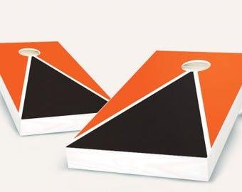 Premium Pyramid Cornhole Set with Eight Bags