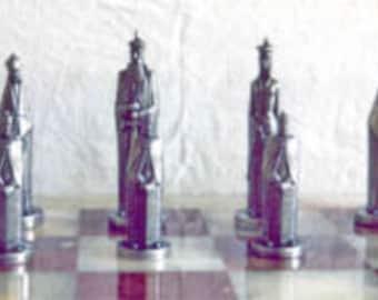 Old English Pewter Chess Set