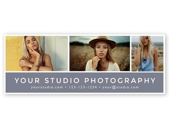 Photographer Facebook Cover - Studio Photography Facebook Timeline Cover Photo - Photoshop PSD *INSTANT DOWNLOAD*