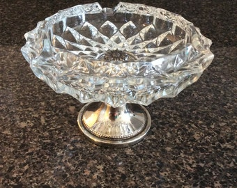 FB Rogers Silverplate Italy Ashtray/Vintage/Pedestal