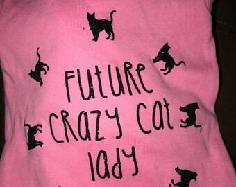 Future crazy cat lady onesie