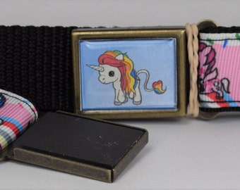Kids Magnet belt with unicorn
