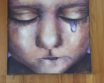 Acrylic Painting - Crying Baby
