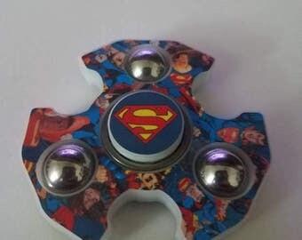 EDC Fidget Spinner Inspired Super Man  *not 3d printed*