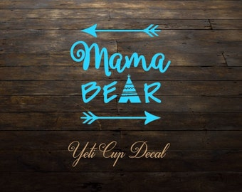 Yeti Cup Decal, Monogram Decal, Personalized Sticker,Name Decal,Preppy,Mama Bear, RTIC Cup Sticker, Tumbler, Personalized Monogram Decal