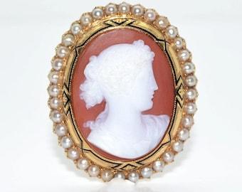 Napoleon III cameo brooch