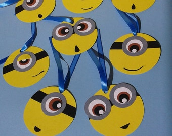 Tag/Minions/First birthday/Birthday/Bonbonniere/Gift for guests/Thanks for coming/  20 Minions tag thanks for coming