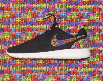 Autism Awareness Jigsaw Puzzle Nike Roshe Run One Shoe Sneaker