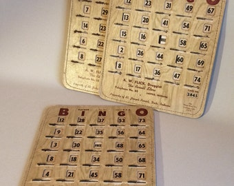 Vintage Advertising Bingo Slider Cards