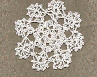 Mini Crochet Doily Lace Doilies Table decoration Crocheted Scrapbook Handmade Wedding Doily Napkin Bohemian Decor Round White Snowflake