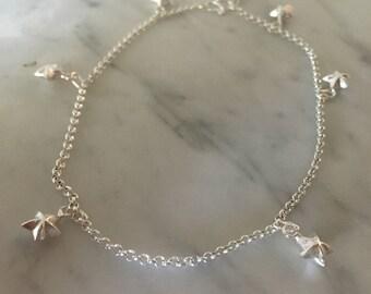 Sterling Silver Anklet, Silver Stars Anklet, Silver Anklet, Sterling Silver Charms, Fashion Jewellery, Anklet, Star Charm Anklet