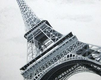 Custom Painting Art Print - Eiffel Tower