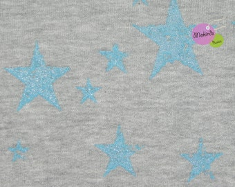 Sweat star turquoise gray melange