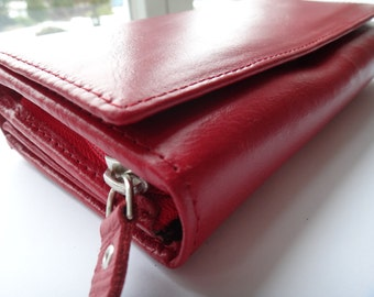 Wallet Leather wallet Red wallet Zipper wallet Coin wallet Women wallet Wallet leather Business card wallet credit card wallet Coin wallet