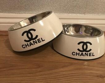 x2 Medium Size Cute Designer Inspired Dog Bowls