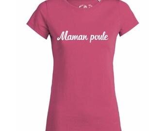 "T-shirt cotton woman bio ""Mama Poulee"", vegan tshirt"
