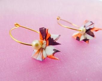 Delicate Miniature Origami Bow Earrings