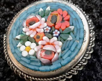 Micro Mosaic Pin Vintage