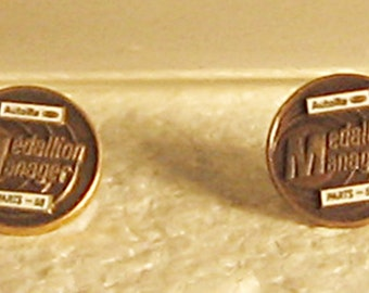 Lot of 2 1968 Ford Autolite Medallion Manager Pins