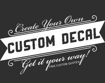 Business Decor Etsy - Custom vinyl decals quotes   beginning business