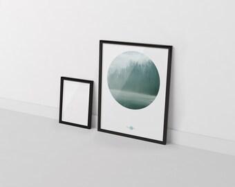 Fog Wall - decorative sheet fog - fog downloadable print - printable sheet fog - fog Digital sheet