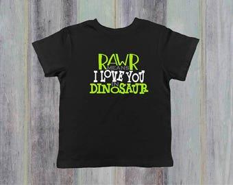 Rawr Means I Love You in Dinosaur Shirt - Dinosaur Shirt - Dinosaur Baby Clothes - Dinosaur Baby Shower Gift - Toddler Boy Shirt - Bodysuit