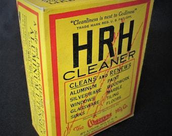 1920s HRH Cleaner Box Absorene Mfg Co Empty Vintage Paper Board Package