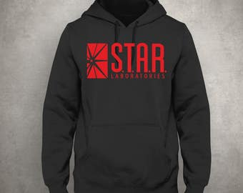 Star Labs Black, Red Unisex Hoodie - STAR Laboratories -  Flash The TV Series -  S.T.A.R. Labs - Free UK Delivery!