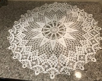 Big White Crochet Doily