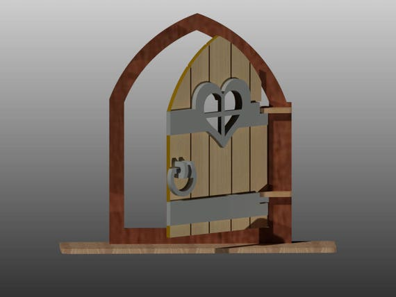 Fairy Door Pattern Vector For Laser Cutting Cnc Instant