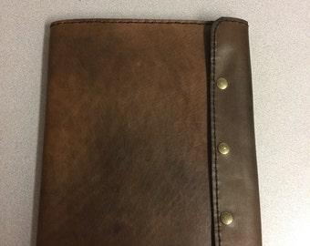 Custom leather legal pad portfolio
