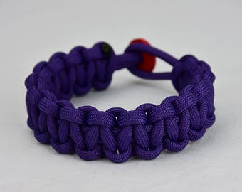 Purple Paracord Bracelet Unity Band