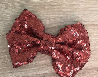 Clearance Sequin Rose Bow