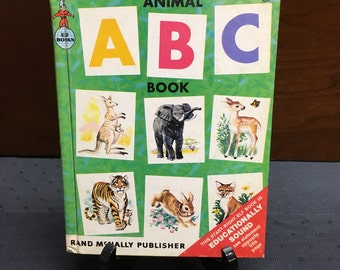 Adorable 1964 Animal ABC Book by Rand McNally Publisher