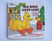 Big Bird Gets Lost by Patricia Thackray- Sesame Street - A Golden Scratch & Sniff Book - children's book