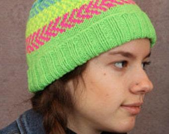 Neon Green ZigZag Hat