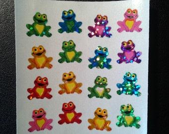 Sandylion Stickers Rainbow Scrapbooking Glittery Mini Frogs, Frog  (1 mod)