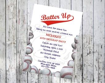 Batter Up Birthday Invitation