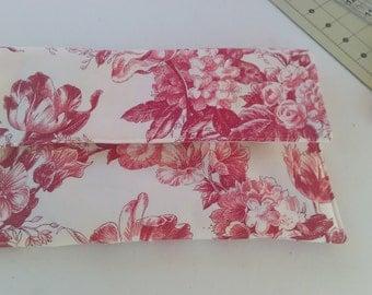Toile fabric purse