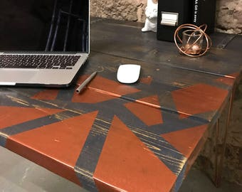 Geometric Copper Desk