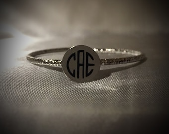 Monogram Personalized Metal Bracelet