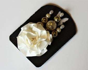 White and Gold Decorative Stick Pin Sets For Scrapbooking, Mini Albums, & Card Making