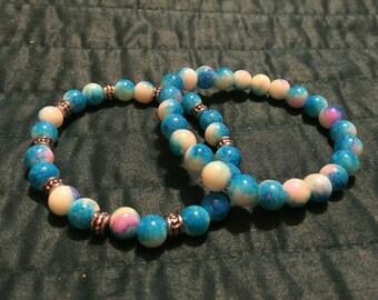 Blue Skies and Butterflies Bracelet Set