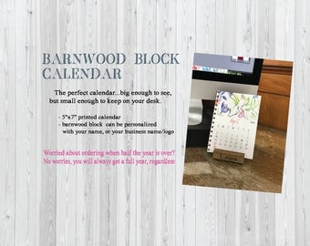 Barnwood Block Calendar / desktop calendar / easel calendar / barnwood
