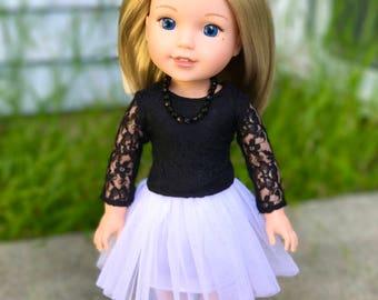14.5  inch doll tutu skirt