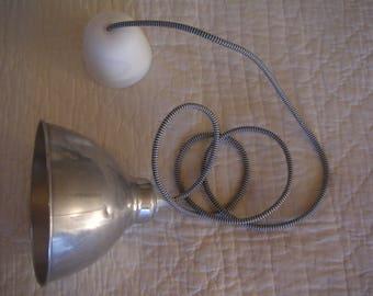 hanging light metal/aluminum vintage/antiques