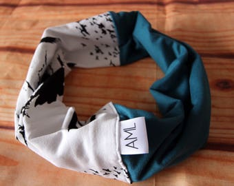 Infinity scarf reversible 6-36 months - birds