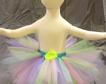 fairy skirt, magical tutu skirt, pastel tutu skirt, rainbow tutu skirt, 1st birthday outfit, newborn tutu outfits