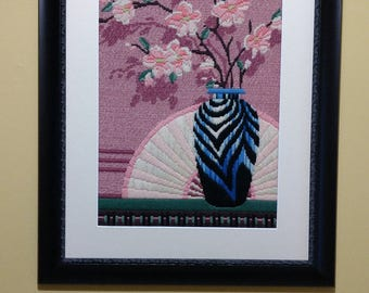 Vases - Needlepoint - Framed Art - Fiber Art